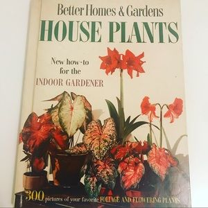 Vintage 1960's House Plants hardcover design book
